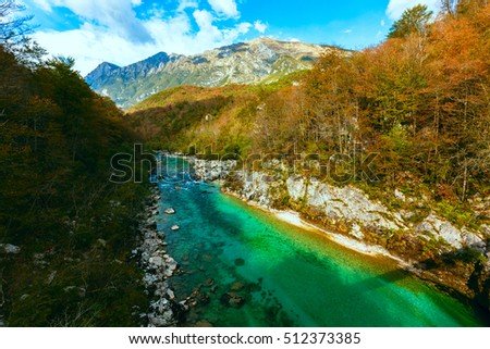 View of Soca river in Slovenia, Europe