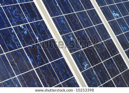 View of solar panel detail for alternative energy - stock photo