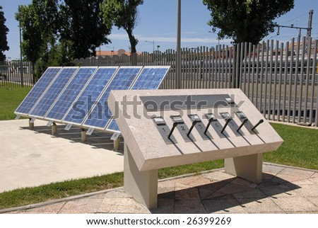 View of solar panel for alternative energy