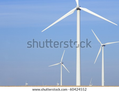 view of some windmills for renewable electric energy production