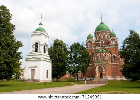 View of Spasso-Borodino Convent, Moscow region, Russia - stock photo