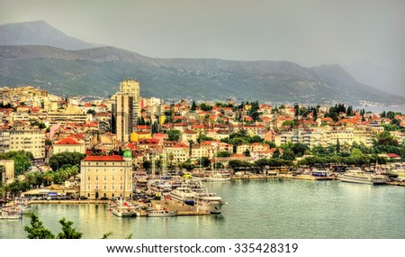 View of Split, the second-largest city of Croatia - stock photo