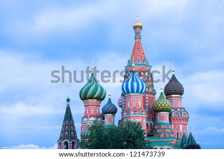 View of St. Basil's Cathedral - stock photo