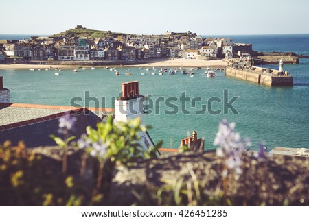 View of St Ives - stock photo
