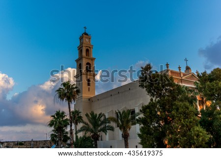 View of St. Peter's Catholic Church in Jaffa - 2