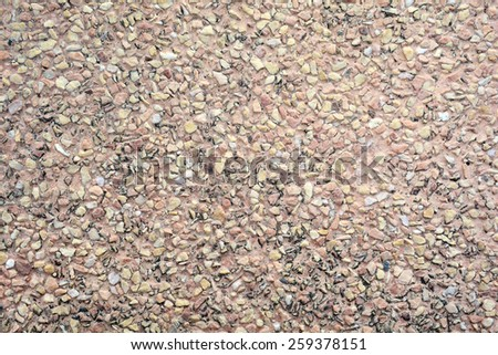 view of stone block paving - stock photo