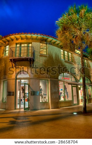 View of Store in Lincoln Road Mall, a very popular tourist destination in Miami.