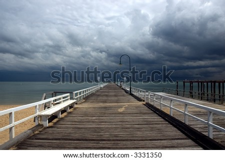 view of storm from jetty