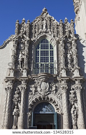 View of Structure at the Museum of Man at Balboa Park in San Diego - stock photo
