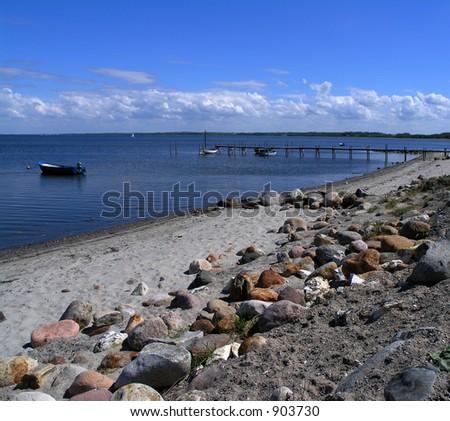 View of Struer bay, Limfjorden, Jutland Denmark - stock photo