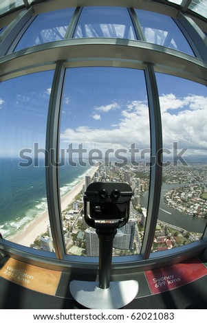 View of Surfers Paradise Gold Coast Australia - stock photo