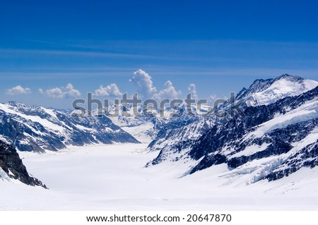 View of swiss alps from Jungfrau