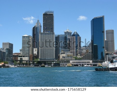 View of Sydney  business district in Australia - stock photo