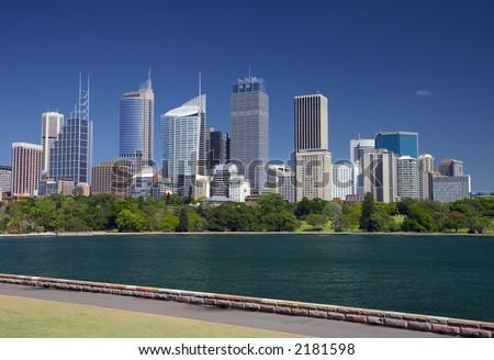 View of Sydney skyline - stock photo
