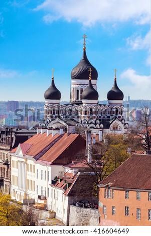 View of Tallinn, Estonia - stock photo