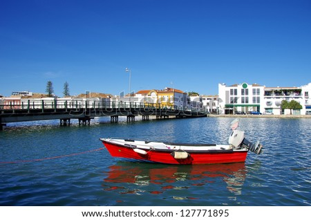 View of Tavira city, Portugal - stock photo