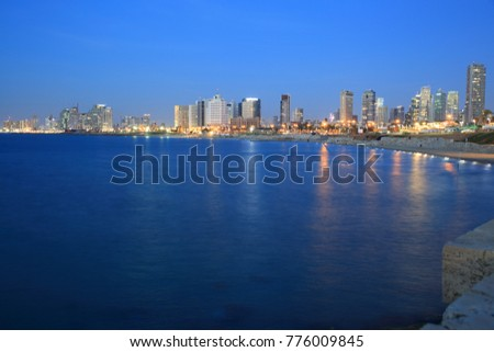 View of Tel Aviv skyline from Jaffa port