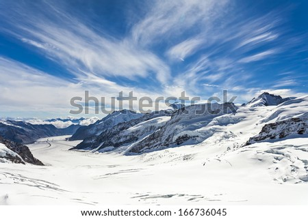 View of the Aletsch Glacier