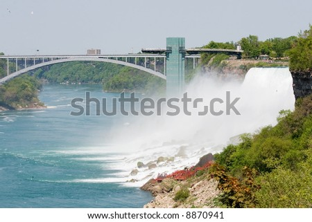 View of the american falls and the observation platform