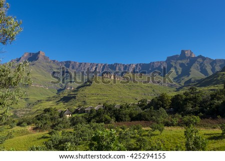 View of the amphitheatre, Natal Drakensberg, South Africa
