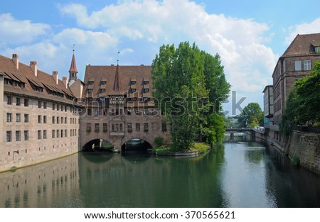 View of the ancient buildings of Nuremberg