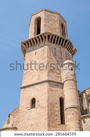 View of the ancient church Saint Laurent of Marseille in South France - stock photo