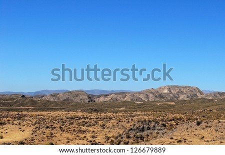 View of the Andalusian countryside, Costa Almeria, Almeria Province, Andalusia, Spain, Western Europe.