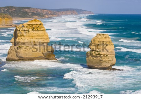 View of the 12 Apostles at Great Ocean Road, Melbourne, Australia