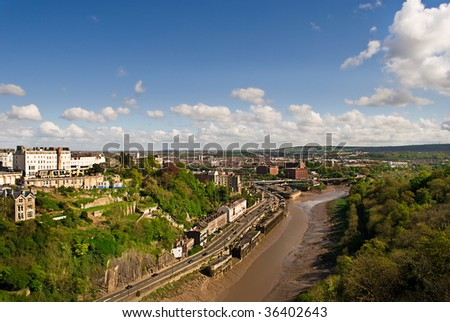 View of the Avon Gorge in Bristol UK - stock photo
