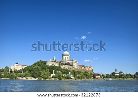 View of the Basilica in Esztergom, Hungary