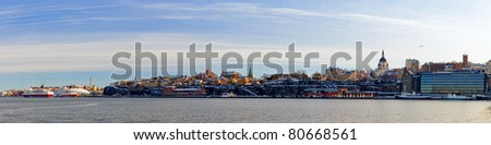 View of the beautiful architecture of Stockholm, Sweden. - stock photo