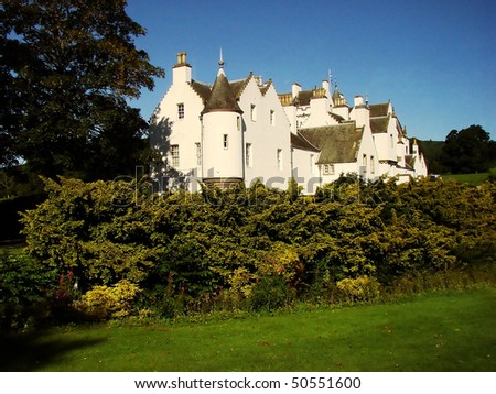 View of the beautiful Blair Castle in Scotland