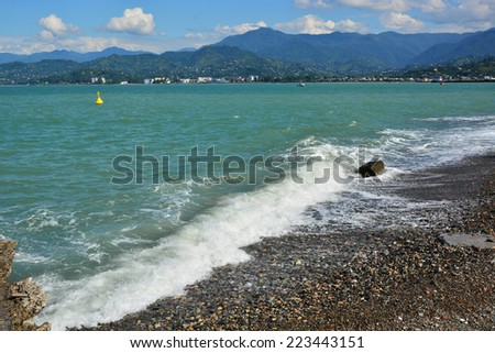 View of the Black Sea - stock photo