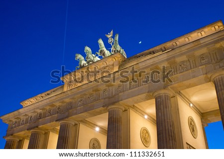 View of the Brandenburger Tor in Berlin - stock photo