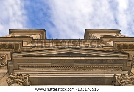 View of the Church of Santissima Trinit� , Rome, Lazio, Italy - stock photo
