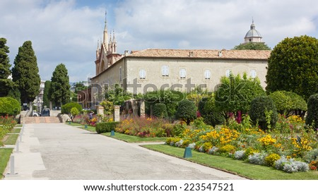 View of the Cimiez Monastery and its Garden in Nice, France - stock photo