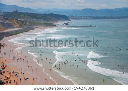 view of the city center of Biarritz, France - stock photo