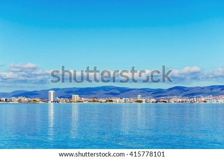 View of the City From the Sea Side - stock photo
