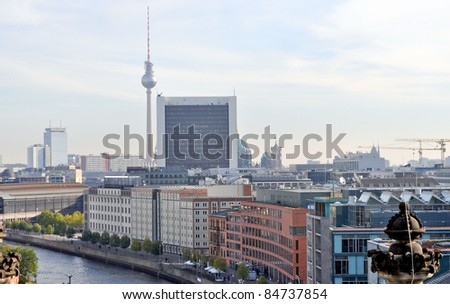 View of the city of Berlin in Germany - stock photo
