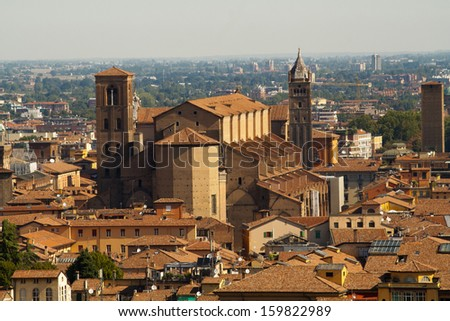 View of the city of Bologna ,Italy - stock photo