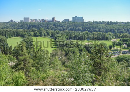 View of the city of Edmonton in Alberta Canada