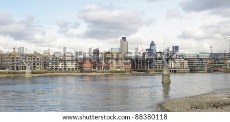 View of the City of London, England, UK