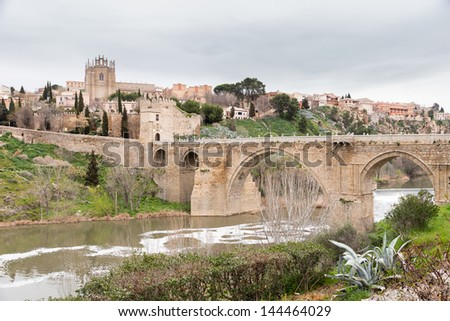 View of the city of Toledo, Spain - stock photo