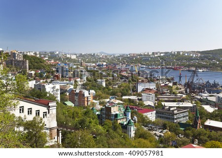 View of the city Vladivostok, Far East, Russia