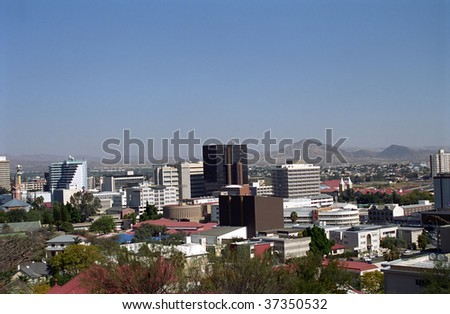 View of the city, Windhoek, Namibia - stock photo