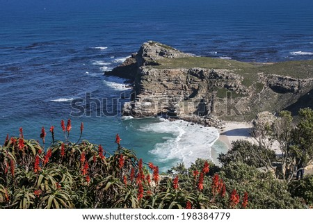view of the coast of cape town  - stock photo