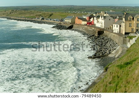 View of the coastal town of Lahinch, Ireland - stock photo