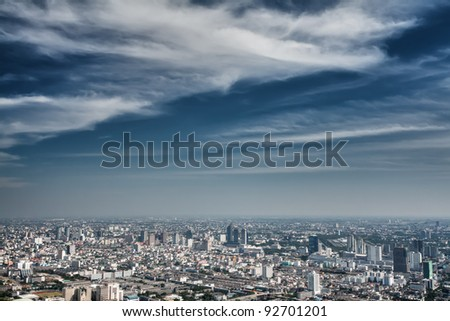 view of the daily Bangkok from a height - stock photo