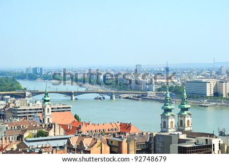 View of the Danube in Budapest, Hungary - stock photo