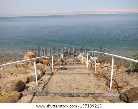 View of the Dead sea - stock photo